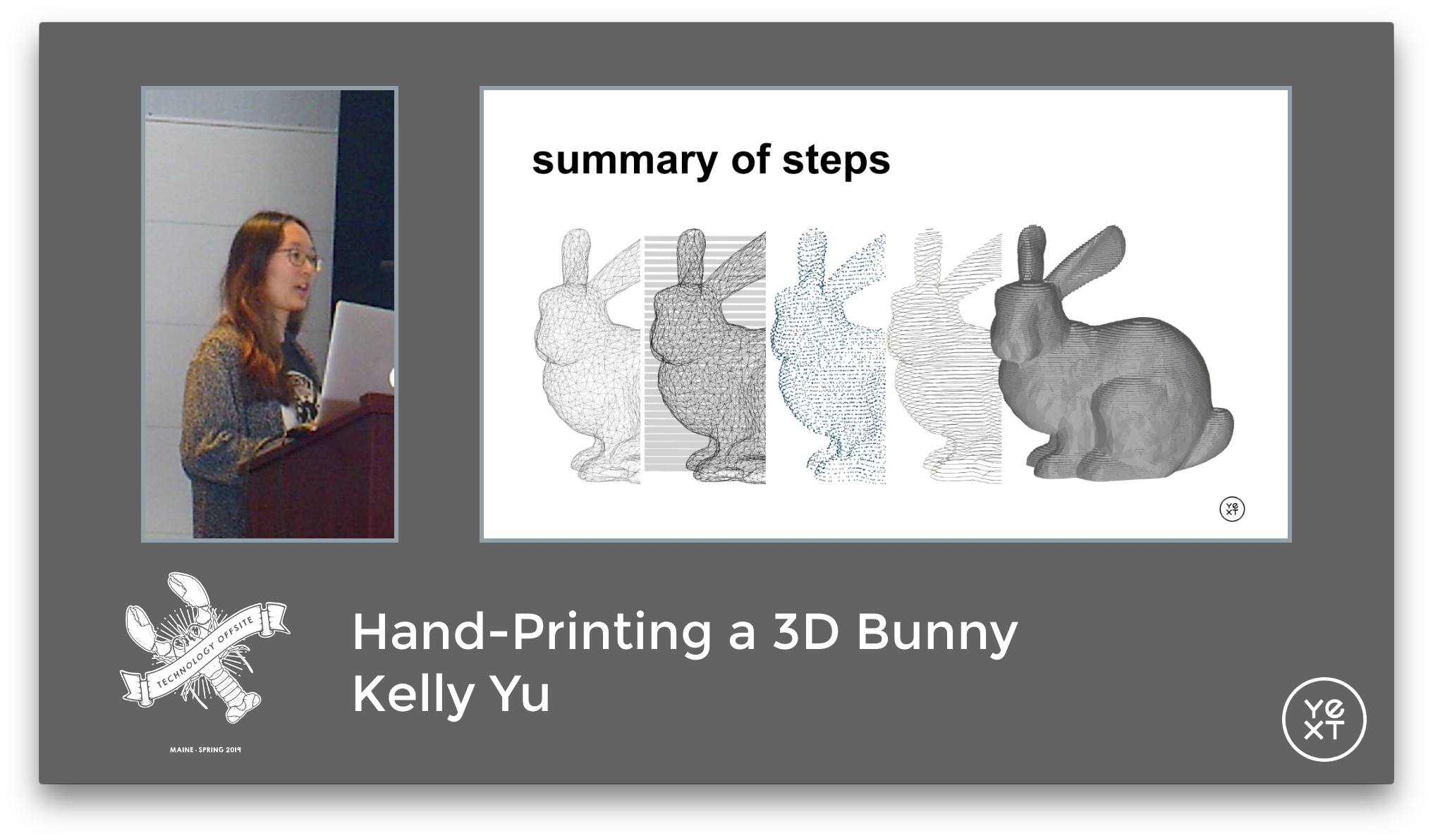 Hand-Printing a 3D Bunny