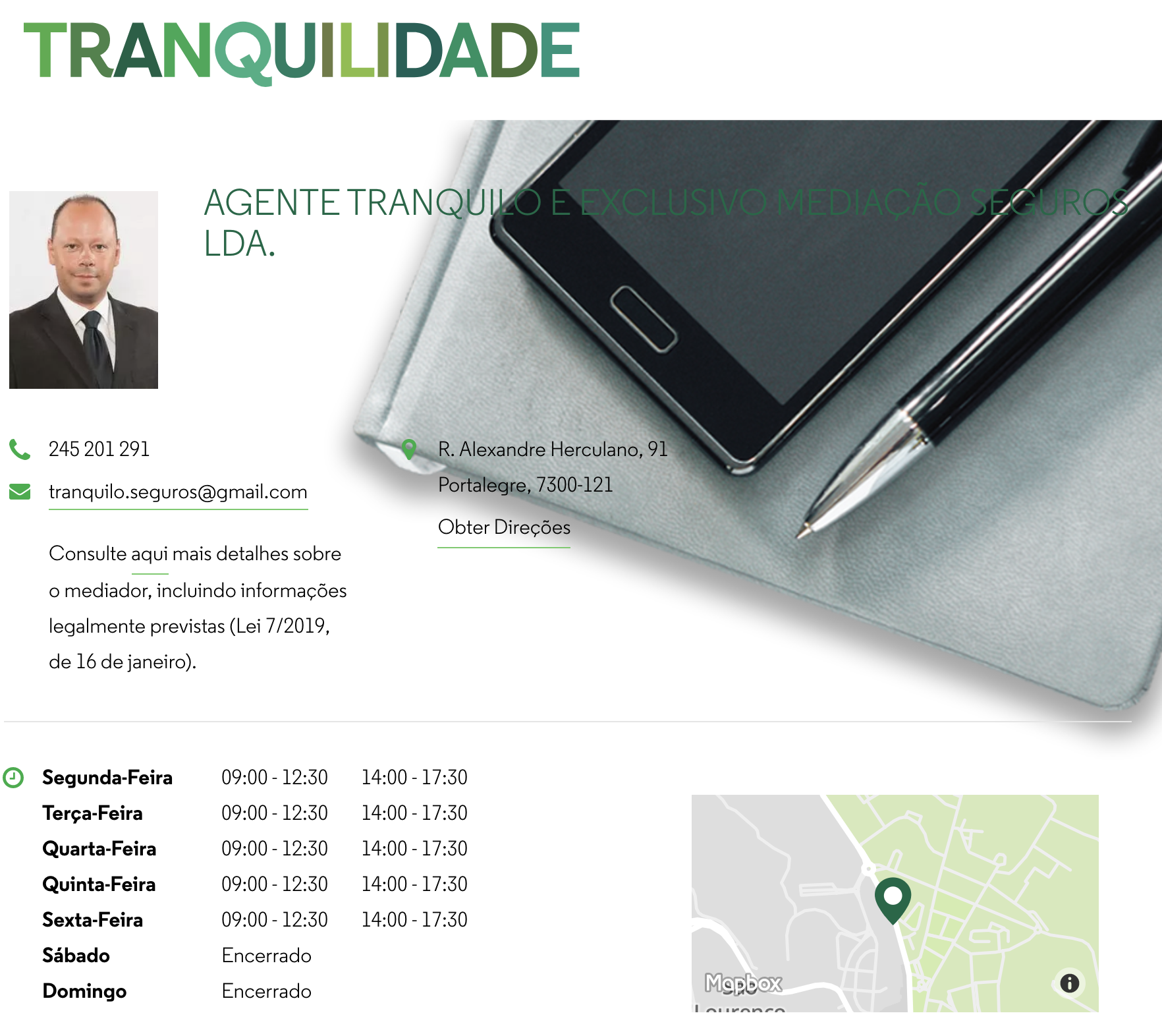 Tranquilidade Agent Page