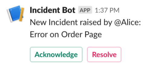 Incident Bot notifying everyone